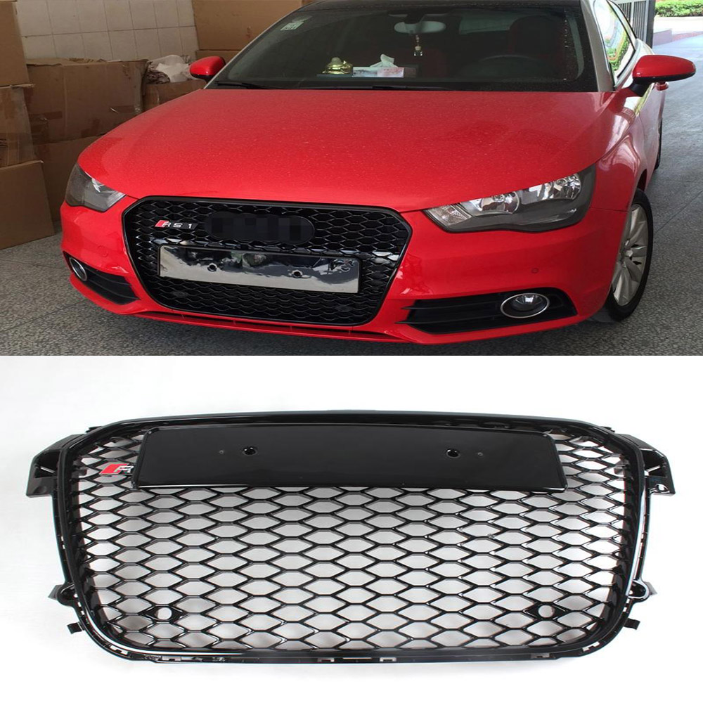 Audi A1 Rs1abs Black Painted Auto Car Front Grill Grille Jdm