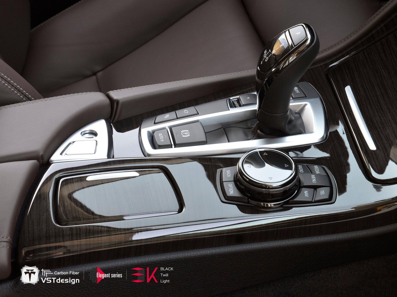 Carbon Fiber Trim Dash Kit Cover Frame For Bmw 5 Series F10 F18 9 Pcs Jdm Autopart Sport Car