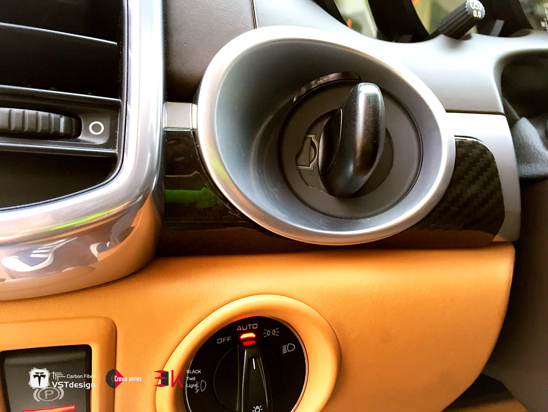car interior quality carbon fiber cover trim frame for porsche cayenne 958 jdm autopart. Black Bedroom Furniture Sets. Home Design Ideas