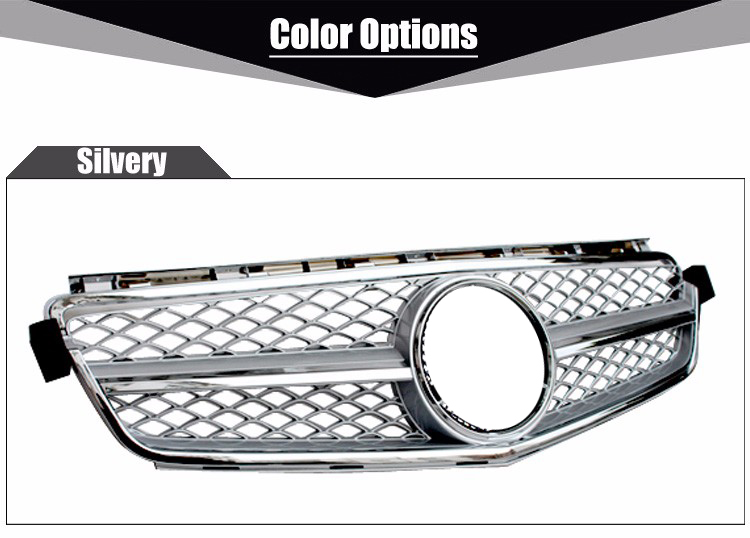 mercedes c class c63 amg front bumper mesh grill grille