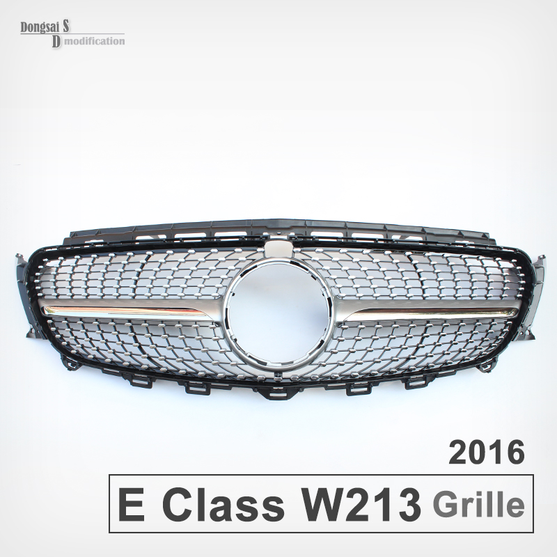 mercedes latest e class w213 diamond silver grill front. Black Bedroom Furniture Sets. Home Design Ideas