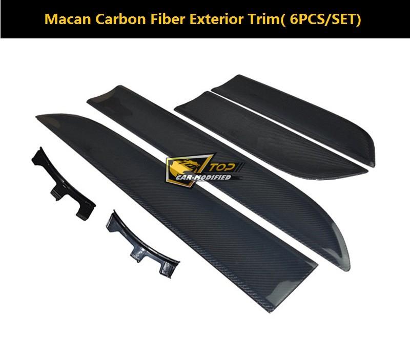 carbon side door trims exterior molding sticker for porsche macan ...