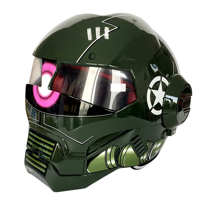 Marvel Legends Iron Man Men S Motorcycle Helmet Jdm