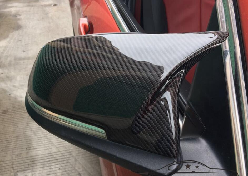 75cabd0c568a BMW Series 1 2 3 4 X1 carbon fiber replace mirror cover caps Universal